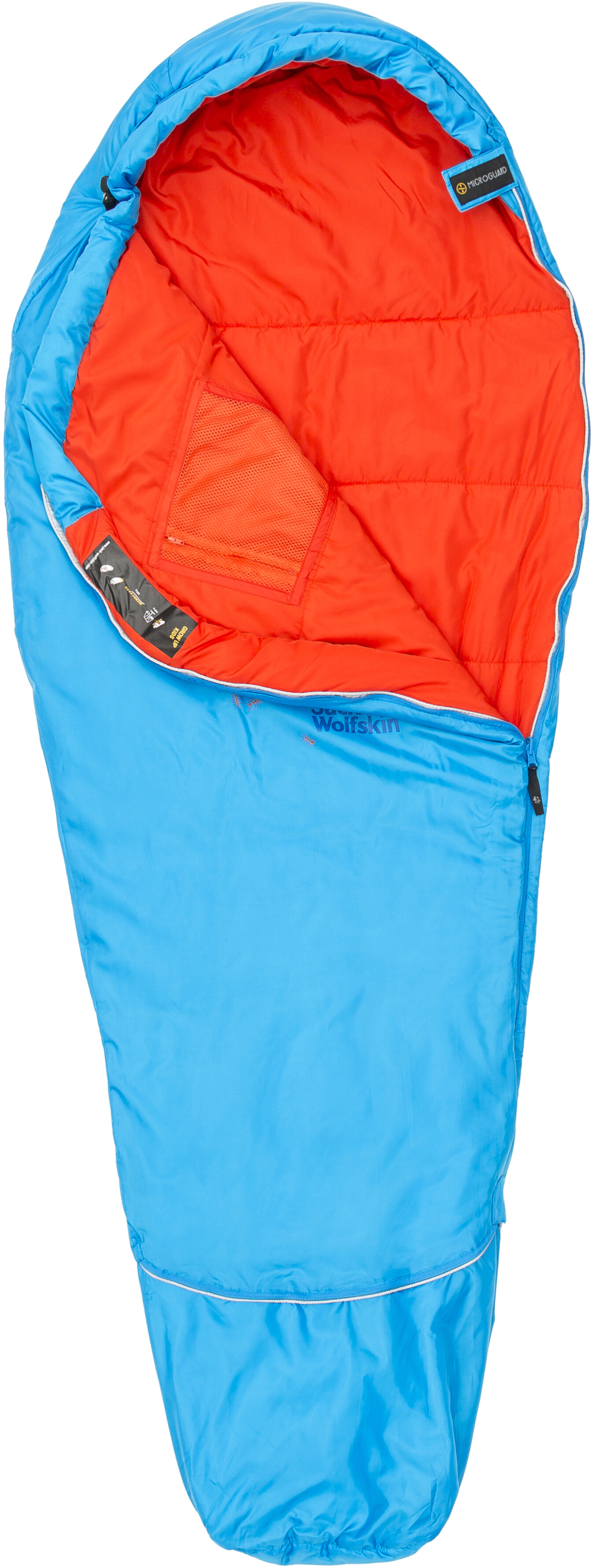 7e1dae47852 Jack Wolfskin Grow Up Sleeping Bag Children blue at Bikester.co.uk